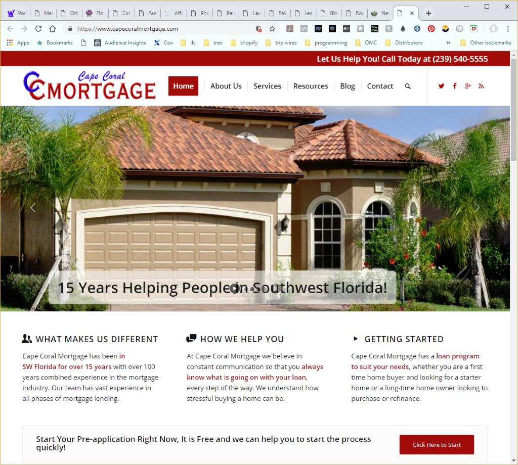Wethersfield Web Services Profile Page - Cape Coral Mortgage Website Image