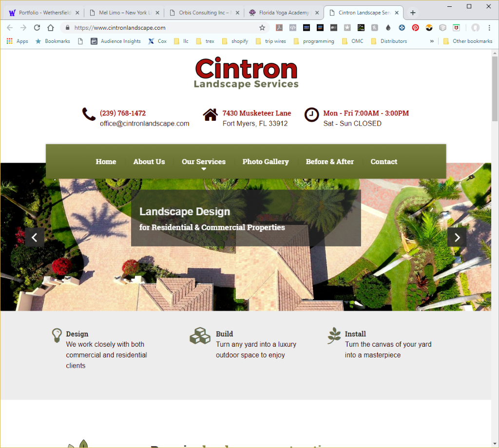 Wethersfield Web Services Profile Page - Cintron Landscaping Website Image