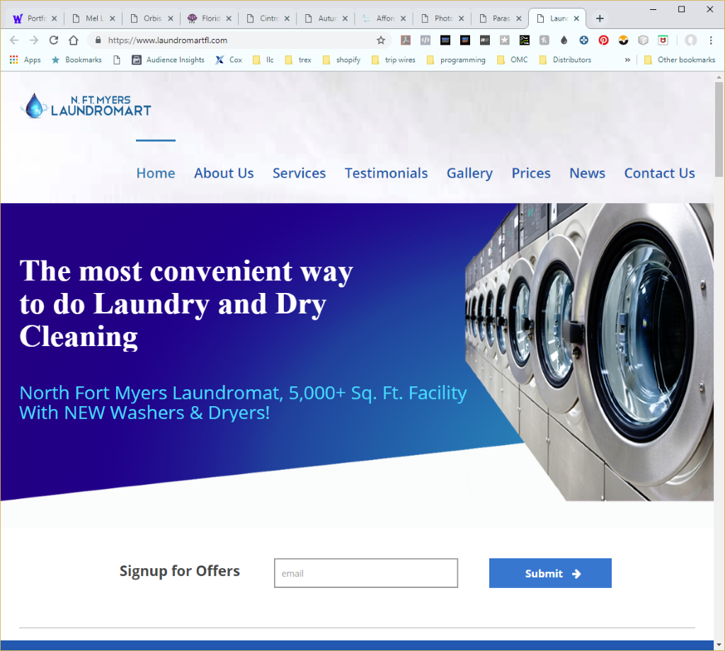 Wethersfield Web Services Profile Page - Laundromartfl Services Website Image