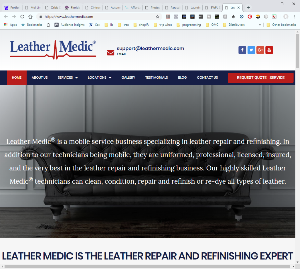 Wethersfield Web Services Profile Page - Leathermedic Website Image
